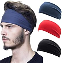 Men Women Wide Headband Sweatband Stretch Sweat Sport Yoga Run Hairband