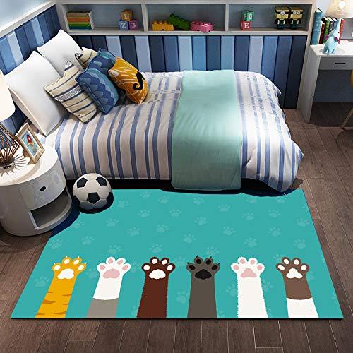 Kids Play Mat Rug for Grawling, Space Themed Slight Mat Education Learning Carpet Funny Niños Área Alfombra para la Sala de Juegos para niños pequeños Decoración de la habitación-image4_80 * 120cm