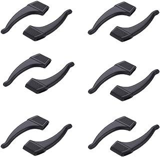 NORHOR 6 paar anti-slip oorhaak grip bril accessoires oorhaak lenzenvloeistof tempel tip voor zonnebril en bril