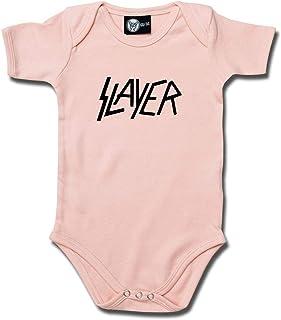 Metal-Kids Metal-Kids Slayer Logo - Baby Body Farbe Hellrosa - schwarz, Größe 62