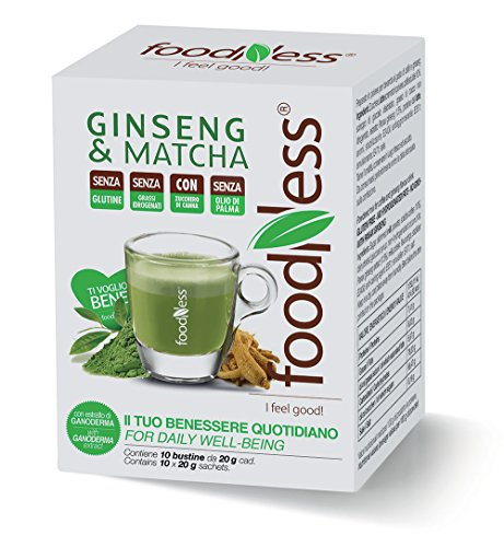Foodness Preparato Monodose per Caffè al Ginseng & Matcha - 5 confezioni da 10 bustine (tot. 50 bustine)