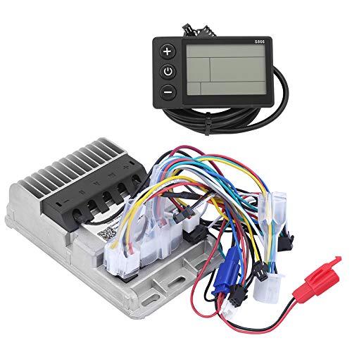 DAUERHAFT Controlador sin escobillas de triciclos eléctricos de 36 / 48V 500W, Conjunto de Controlador LCD de Instrumentos sinusoides de 3 Modos, para Motocicletas eléctricas, triciclos