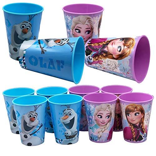 JuniorToys Design für Frozen Die Eiskönigin Trinkbecher 230ml mit Olaf Anna ELSA Ideal für Party und Kindergeburtstag (Sortiment 8 Stück)