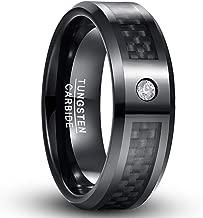 tungsten white carbon fiber ring