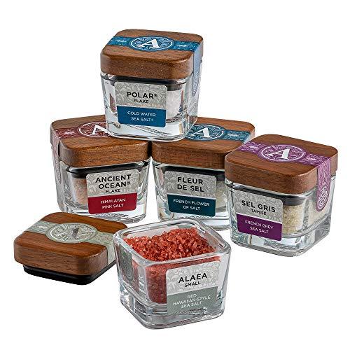 Artisan Salt Artisan Classic Salt Sampler Gift Set, 5 Varieties (3.2 Oz Net Wt), Sea Salt, Mineral Salt