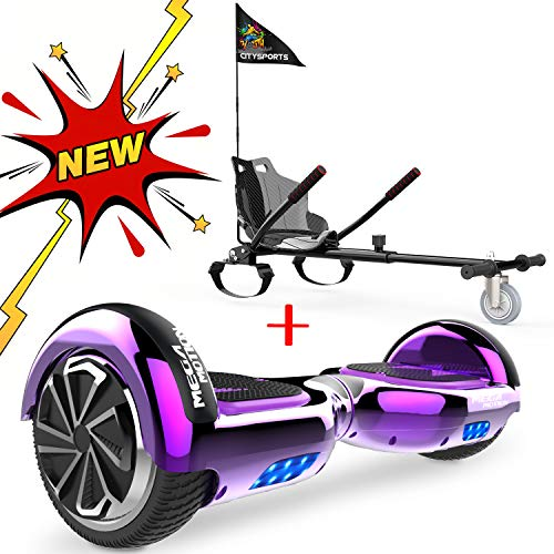 CITYSPORTS 6.5 Zoll Hoverboard (Chrome Purple+Black Hoverkart)