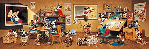 456ピース ジグソーパズル ディズニー 歴代ミッキーマウス大集合! ぎゅっとシリーズ (18.5x55.5cm)