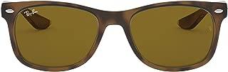 Ray Ban Junior Unisex Sunglasses Rectangular- Shiny Havana/Brown