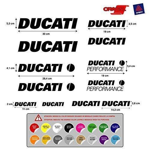 Aufkleber Aufkleber Aufkleber Aufkleber Aufkleber Aufkleber Autocollants Ducati Performe Vinyl Vogelmalerei Hochwertig Motorrad 5 A 7 Años 12 Einheiten 16 Farben Verfügbar REF1