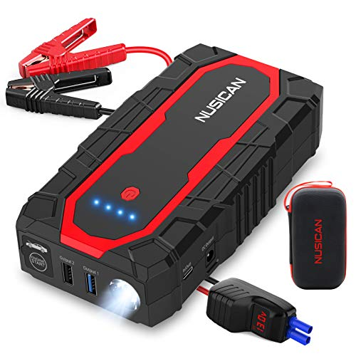 Nusican N18 Car Battery Jump Starter 1500A Peak 18000mAh(Up to 7.0L Gas,...