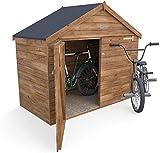 Tejado del cobertizo de bicicleta al aire libre...