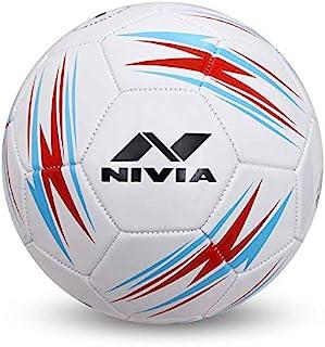 NIVIA BLAZE MACHINE STITCHED FOOTBALL SIZE - 5 RED/BLUE