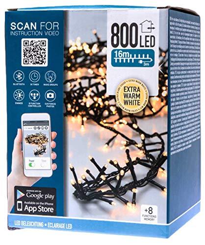 made2trade Smarte App-gesteuerte LED Lichterkette für In- und Outdoor - 800 LEDs - 16 Meter