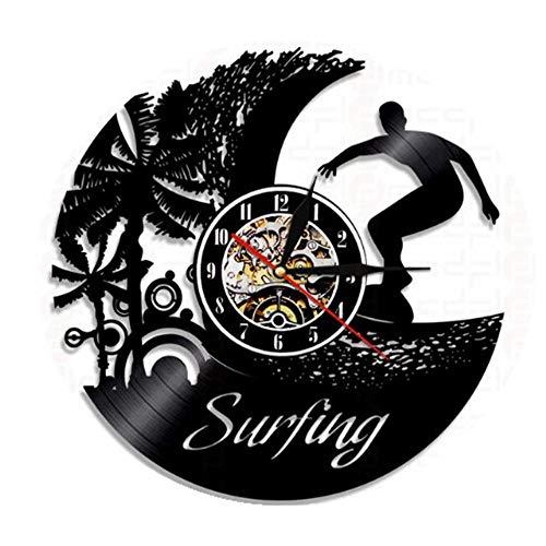 LTOOD ZAMLE Reloj de Pared de Vinilo para Deportes acuáticos Reloj de Pared para Sala de Estar Reloj Wish Ebay @ 12 Inches_Style 7