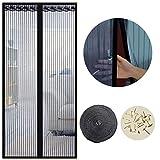 Cortina Mosquitera Magnética para Puertas, 80 x 200cm, Anti Insectos Moscas y Mosquitos, con Imanes...