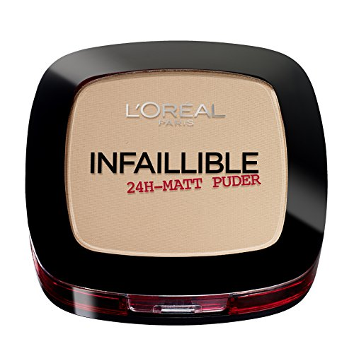 L'Oréal Paris Infaillible Puder, 225 Beige / Kompaktpuder für das perfekte Finish & bis zu 24h Halt / Hautschonendes Powder für alle Hauttypen / 1 x 9 g