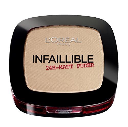 L'Oréal Paris Infaillible Puder, 225 Beige / Kompaktpuder für das perfekte Finish & bis zu 24h...
