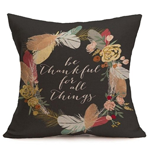Fundas de almohada de Vovotrade de estilo moderno para sofá, diseño de flores, de lino suave, para decorar el hogar, fundas de almohada, Ropa de cama de algodón, H, 18
