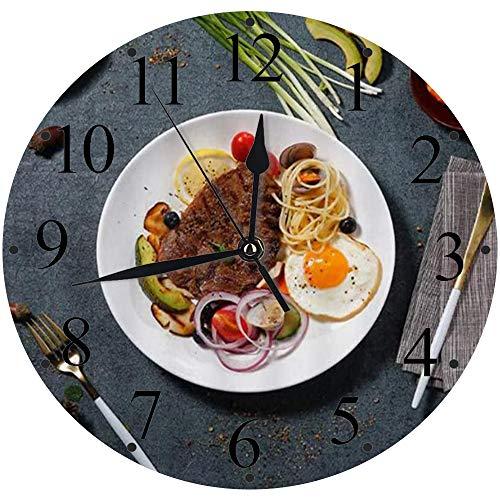 Orologio Silenzioso, Alimentato a Batteria,Alimento Bistecca...