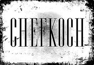 "mySPOTTi Spritzschutz ""Chefkoch"" – Aluminiumverbundplatte mit Digitaldruck"