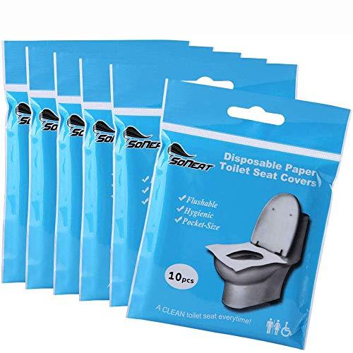 ysister Copriwater USA e Getta, 100 Pezzi Sedile del Water monouso, Coprisedili monouso per WC, Dimensione Universale Perfetto per I Bagni Pubblici in Viaggio e in Campeggio