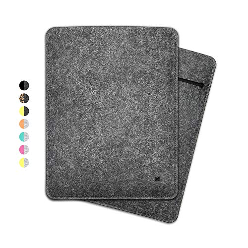 FORMGUT® iPad-Tasche, Tablet Sleeve Hülle aus Filz für iPad Pro 12,9 Zoll (Generation 3-4) / Tablet-Tasche, Filz-huelle, Schutzhuelle, Filztasche, Schutztasche, Cover/Dunkelgrau Schwarz