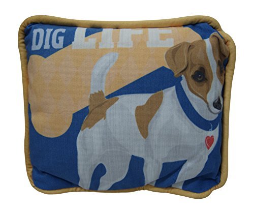 Who's Your Doggy Decorative Pillow By Giftcraft (Jack Russell)