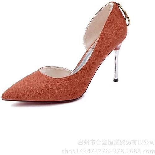 Honneur Honneur Suede Chaussures Simples Talon Aiguille Femme Talon Aiguille A Souligné Super Chaussures à Talons Hauts Sandales pour Femmes  économiser jusqu'à 50%