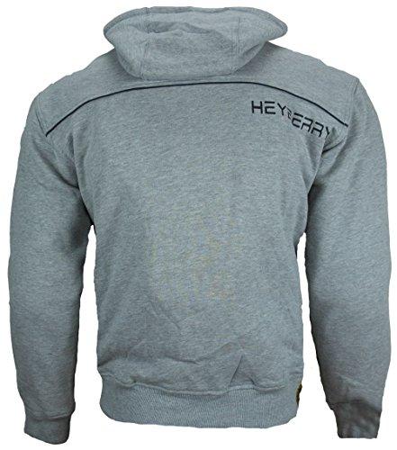 Heyberry Hoody Motorradjacke Roller Jacke Grau Gr. L - 3