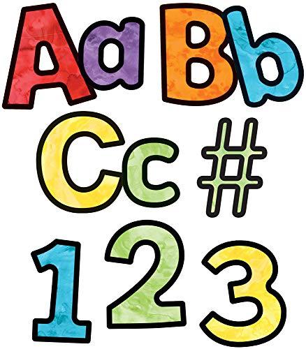 Carson Dellosa Education Celebrate Learning Watercolor Combo Pack EZ Letters, Multicolor, 4'