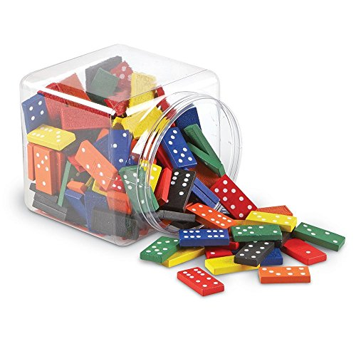 Learning Resources Double-six Dominoes In Bucket, Teaching aids, Math Classroom Accessories, 168 Pieces, Ages 5+