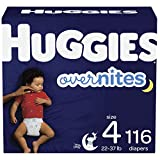 Nighttime Baby Diapers Size 4, 116 Ct, Huggies Overnites