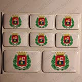 Pegatinas Las Palmas de Gran Canaria España Resina, 8 x Pegatinas Relieve 3D Bandera Las Palmas de Gran Canaria España Adhesivo Vinilo