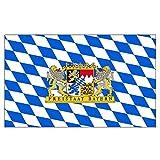 Bandiera dello Stato Libero di Baviera con leone, Multi, 150 x 90 x 1 cm 16990