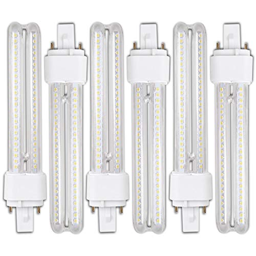 Genetic H268 15W- Pack 6 Bombillas PLC LED 15W Luz Fria A+ G24 2Pin H268