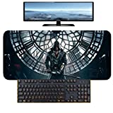 Assassin's Creed Gaming Mauspad XXL 900x400x 3mm Schreibtischunterlage Abwischbar Anti Rutsch Matte Multifunktionales Office Mousepad PC-E_400X900MM