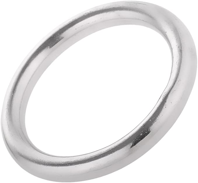 Edelstahl O Ring hochwertig Edelstahl Rundring 8 x 80mm poliert MagiDeal Edelstahlringe