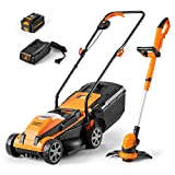 LawnMaster 20VMWGT 24V Max Lithium-Ion 13-inch Lawn Mower and Grass Trimmer 10-inch Combo with 4.0 Ah Battery and Charger