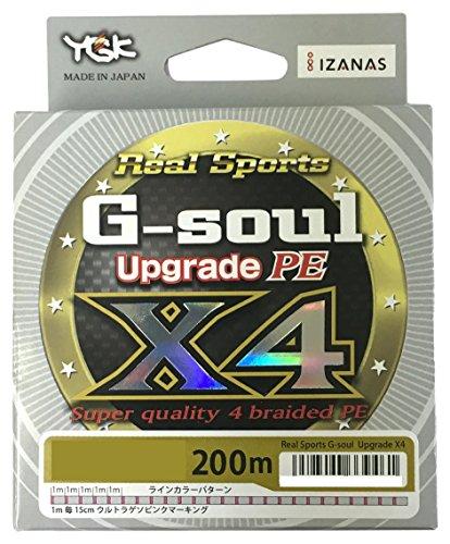よつあみ(YGK) PEライン Gソウル X4 アップグレード 200m 1.2号 20lb 4本 サテライトシルバー