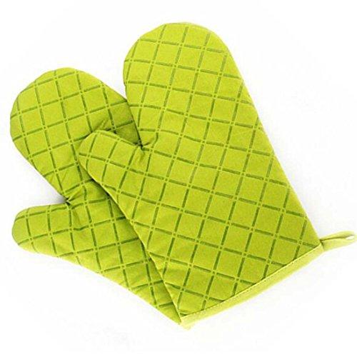Ancdream Cooking Series Gants de silicone résistant à la chaleur/isolant (une paire) Support de pot Mitaine de four pour barbecue/four/cuisson - vert