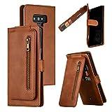 Nadoli Cerniera Custodia per Samsung Galaxy Note 9,Unico Lusso 9 Slot per Schede Disegno Pu Pelle Magnetico Cinturino da Polso Portafoglio Cover