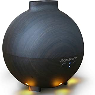 600ml Large Essential Oil Diffuser for Aromatherapy,Diffuser for Essential Oils Aroma Cool Mist Humidifier- Dark Wood Grain-Last Overnight-For Large Room