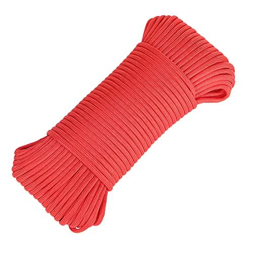 Cuerda de paracaídas de paracaídas de 102 pies de cuerda de paracaídas de 9 hebras de núcleo de 600 libras de poliéster paracaídas para exteriores, supervivencia, camping, senderismo pulsera, B, L