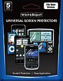 Body Glove 9000207 WriteRight universal Screen Protectors - 5 Pack - Retail Packaging - Black