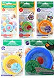 Bundle of Five (5) Quick Yo-Yo Makers: Extra Small (makes 3/4' yo-yos), Small (makes 1.25' yo-yos), Large (makes 1.75' yo-yos), Extra Large (makes 2-3/8' yo-yos), and Jumbo (makes 3.5' yo-yos)