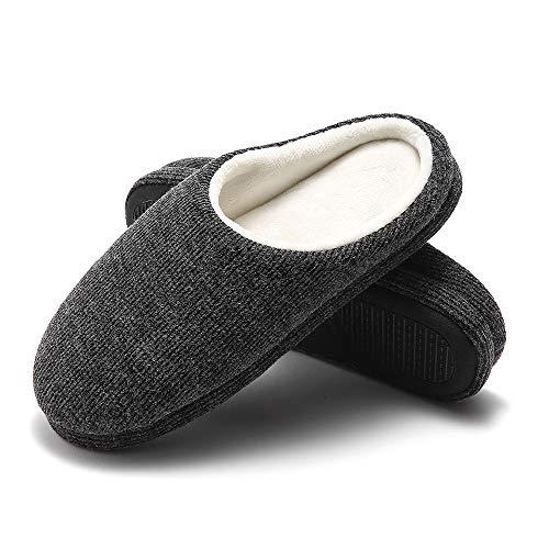 [GaraTia] メンズ ルームシューズ スリッパ 暖かい 冬用 室内履き ふわふわ もこもこ 防寒 滑り止め 洗える 超軽量 静音 デップグレー 25.5cm