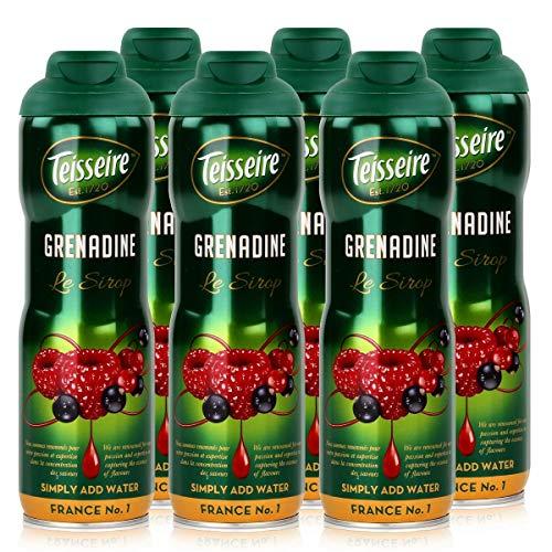 Teisseire Getränke-Sirup Grenadine 600ml - Sirup der genauso schmeckt wie die Frucht (6er Pack)