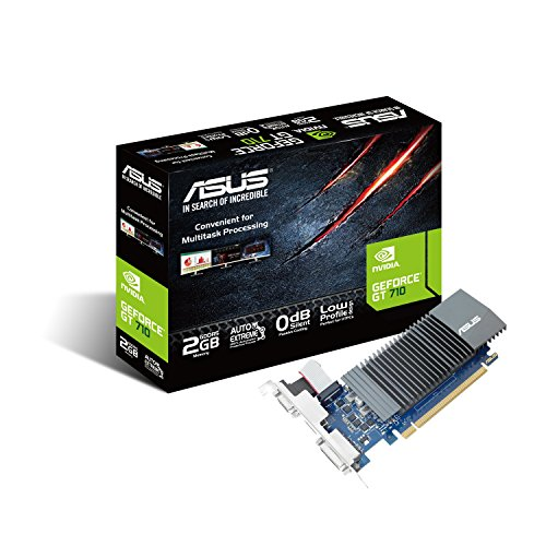 ASUS GeForce GT 710 2 GB DDR5, Scheda Video Low Profile per HTPC Compatti e Build Low Profile, Incluso Bracket Aggiuntivo I/O