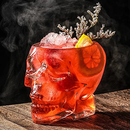 Skull glass Wine Glass, Crystal Skull Cup, Transparent Head Wine Glass, Vodka Spirits Cup Glass, Creative Wine Dispenser Bottle Halloween Home Party Decoration Gifts