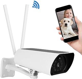 Cámara de Seguridad Solar 4G Cámara de Vigilancia para Exteriores 1080P HD con IP67 Impermeable Visión Nocturna Detección de Movimiento Tarjeta TF (no incluida) Soporte de Servicio en la Nube